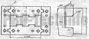 П образный замок матрицы