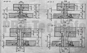 Основные размеры направляющих элементов для пуансонов