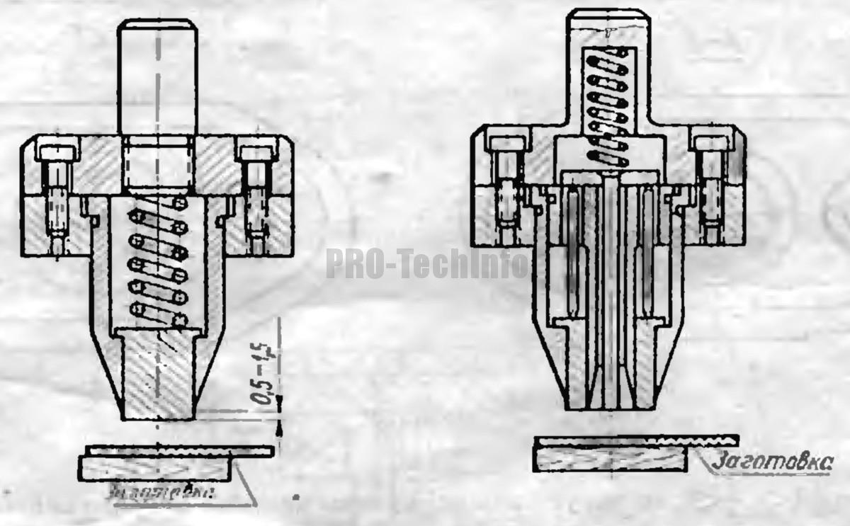 Типовая конструкция штампа для неметаллических деталей
