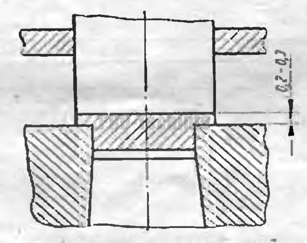 штамп для зачистки обжатием пуансоном больше матрицы