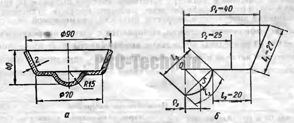 определения диаметра заготовки детали при вытяжке