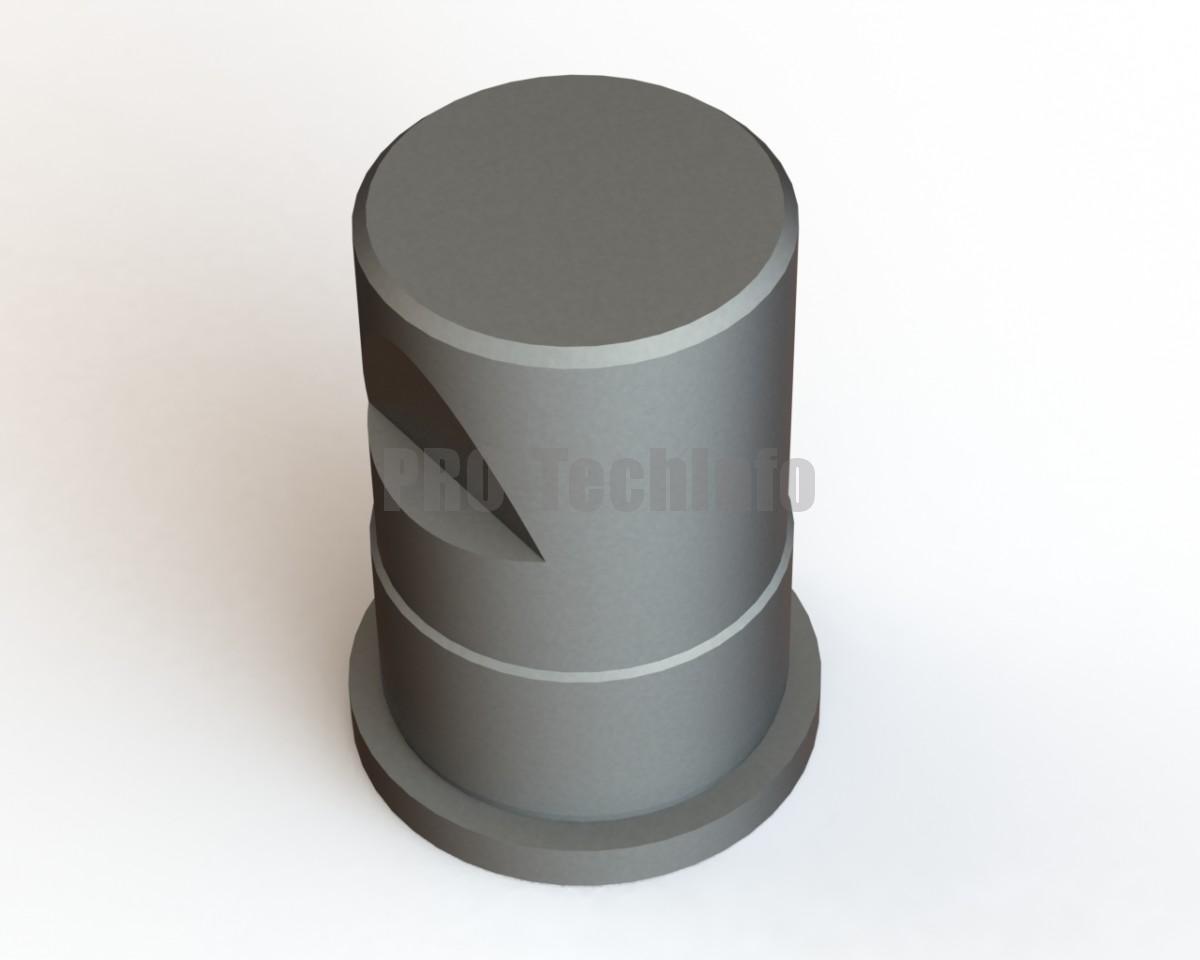 Хвостовик штампа ∅60х100 с буртиком модель