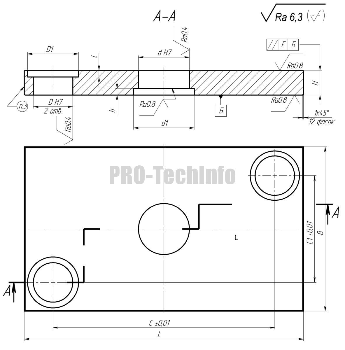 Плиты верхние для штампа с 2 колонками модель