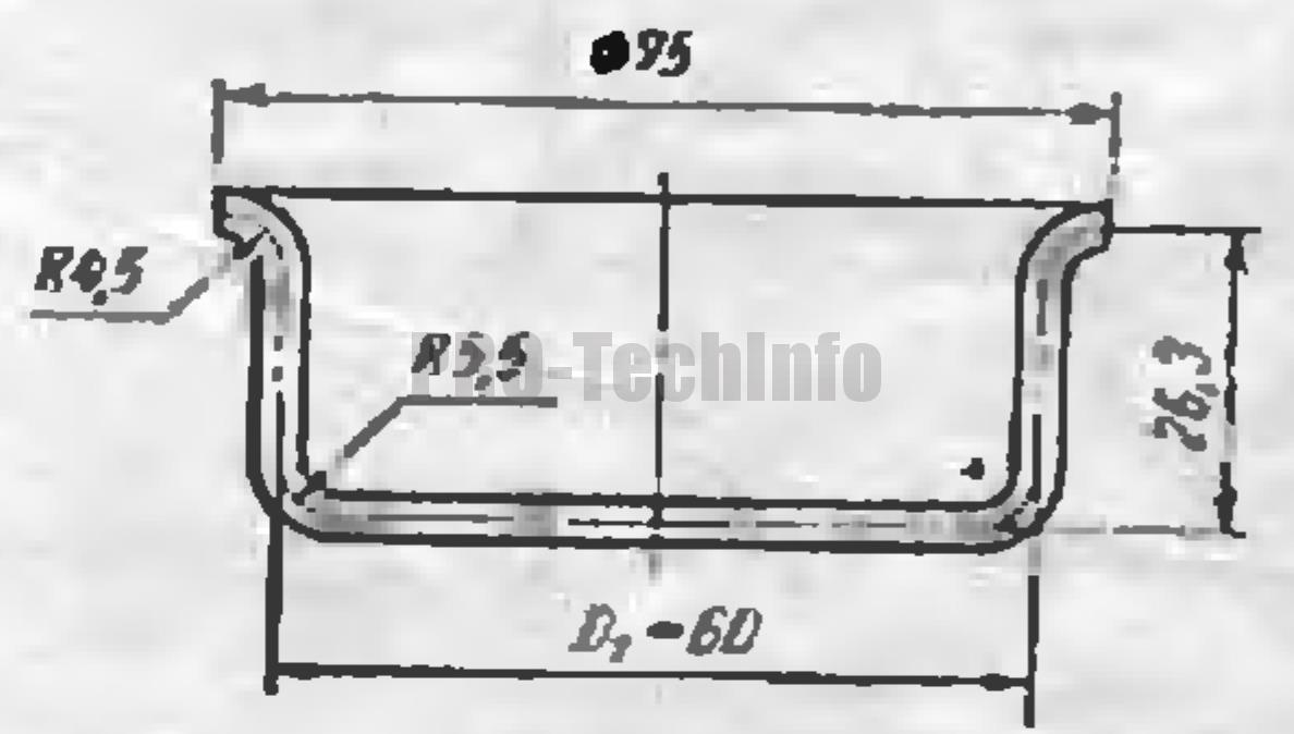 Вытяжка высоких конических деталей с фланцами 1