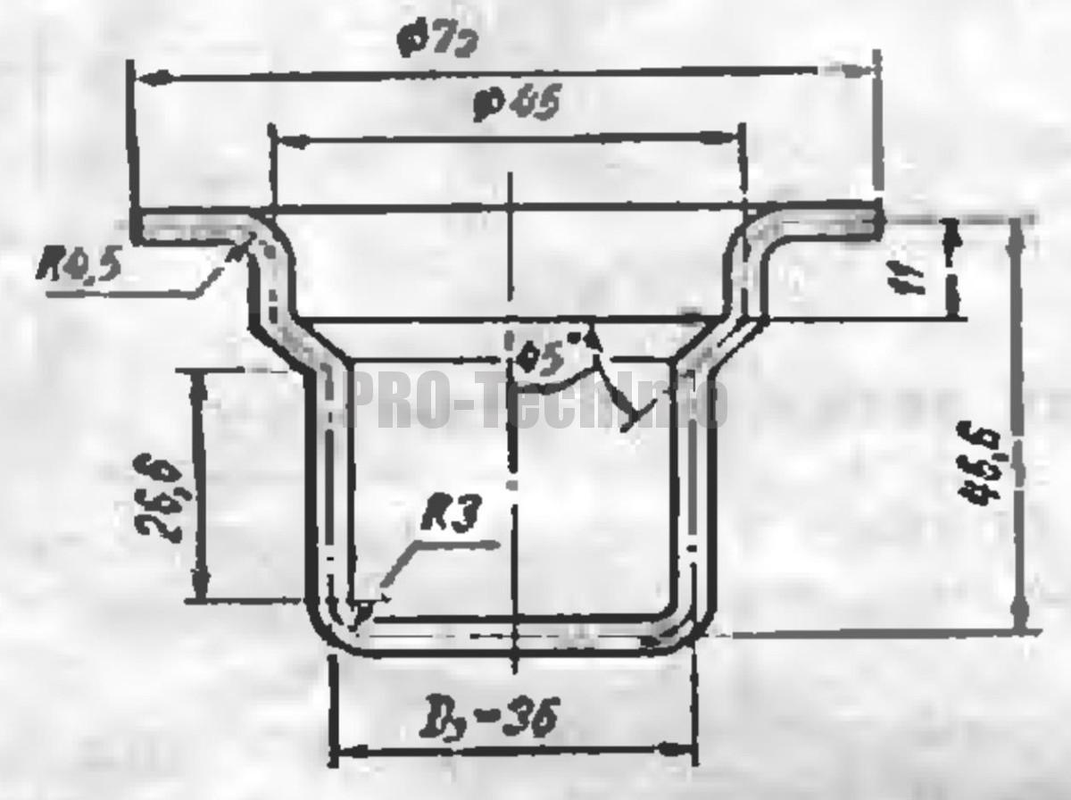 Вытяжка высоких конических деталей с фланцами 3