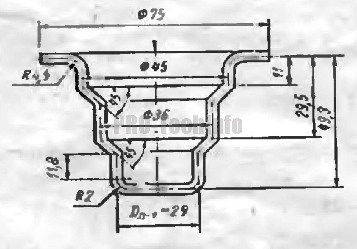 Вытяжка высоких конических деталей с фланцами 4