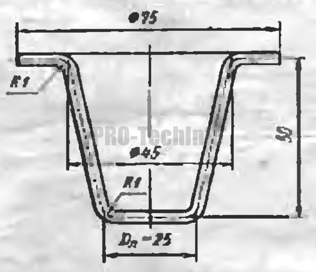 Вытяжка высоких конических деталей с фланцами 5