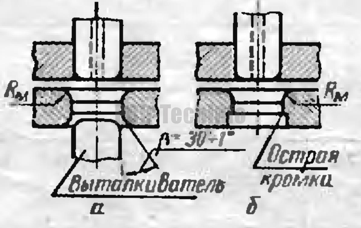 Форма матриц и пуансонов Для 1-й операции вытяжки на прессах двойного действия