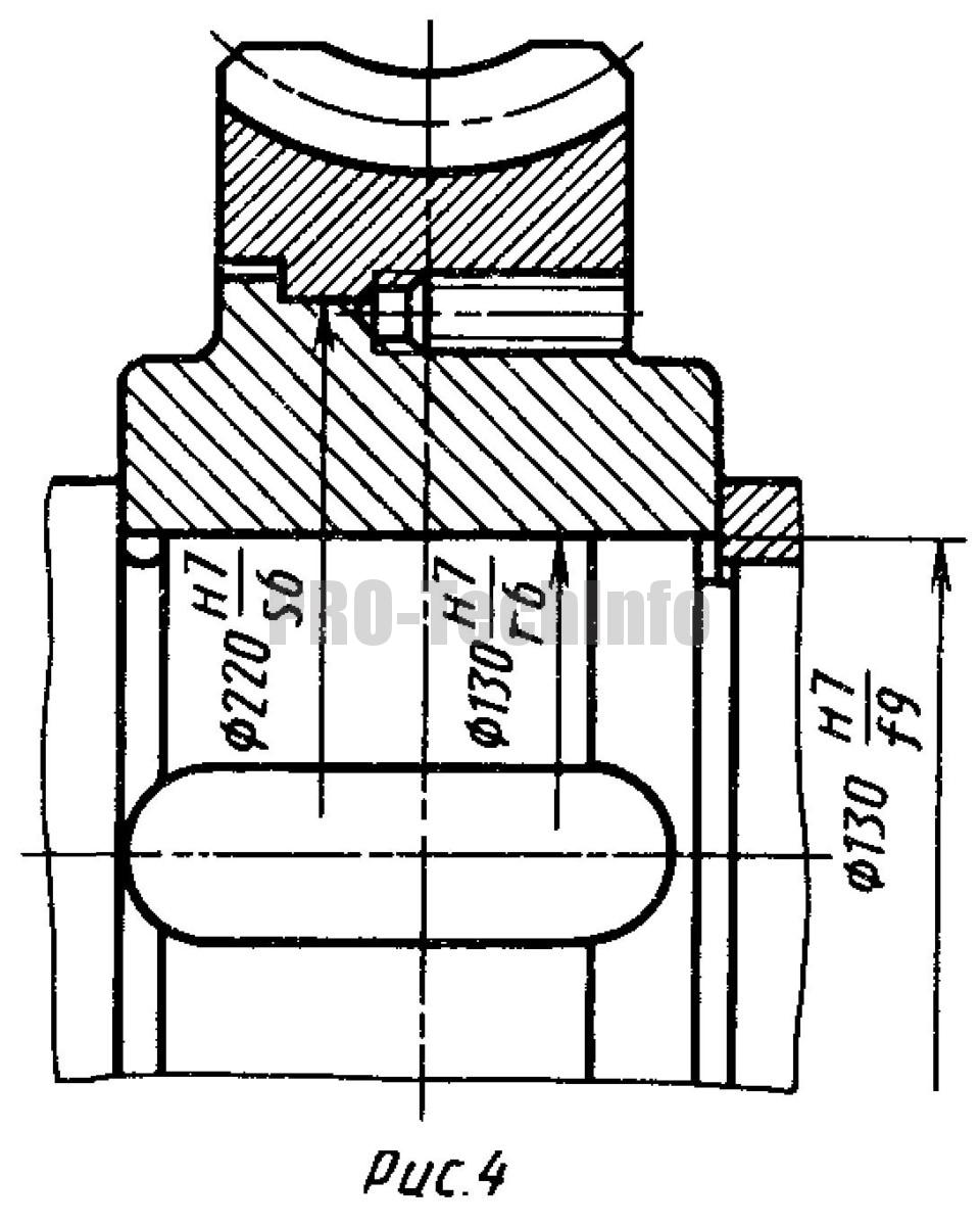 Крепление венца червячного колеса на центре