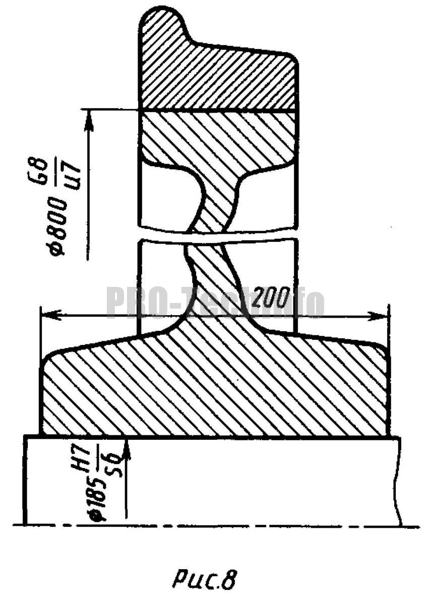 Крепление бандажа на центре вагонной оси