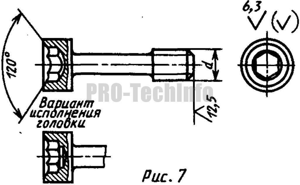 Винты невыпадающие с цилиндрической головкой и шестигранным углублением «под ключ»