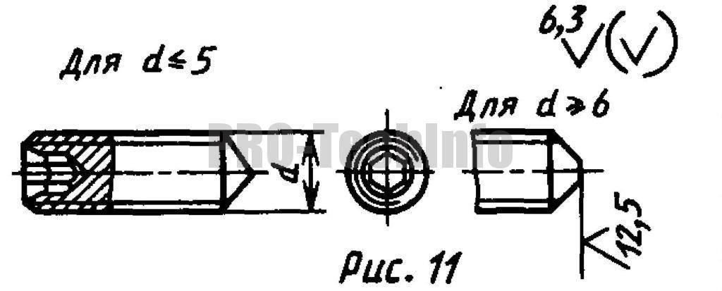Винты установочные С коническим концом и шестигранным углублением под ключ классов точности А и В