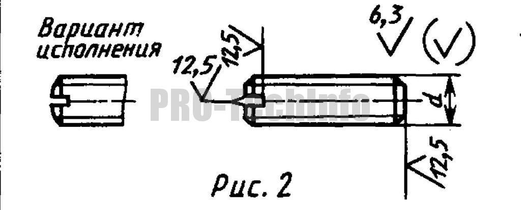 Винты установочные С плоским концом и прямым шлицем классов точности А и В