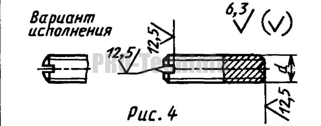 Винты установочные С засверленным концом и прямым шлицем классов точности А и В