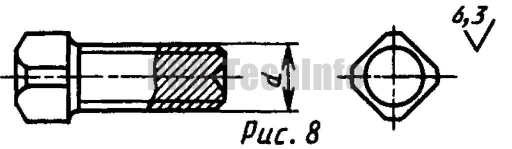 Винты установочные С квадратной головкой и засверленным концом классов точности А и В