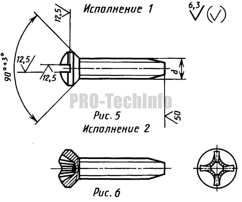 Винты самонарезающие С полупотайной головкой для металла и пластмассы
