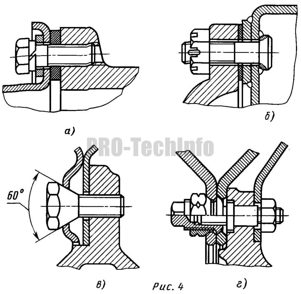 Фланцевое крепление тонкостенных деталей