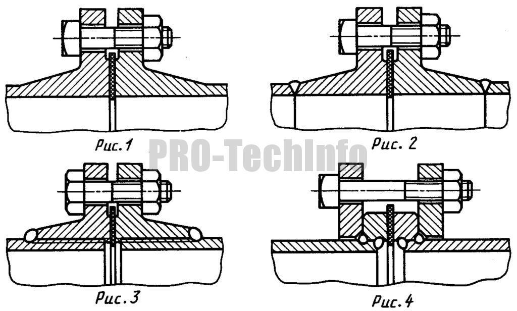 Фланцевое соединение труб без центрирования