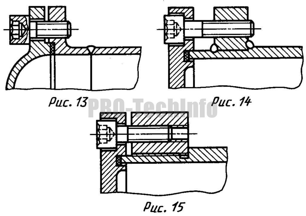 Фланцевое крепление крышек к цилиндрам