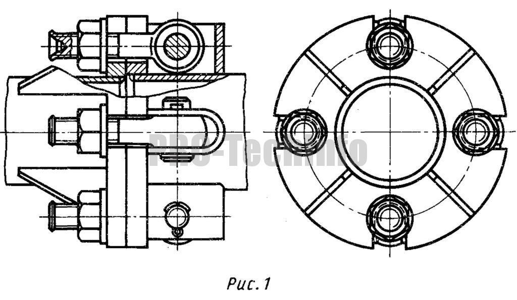 Фланцевое соединение труб накидными болтами (без центрирования)