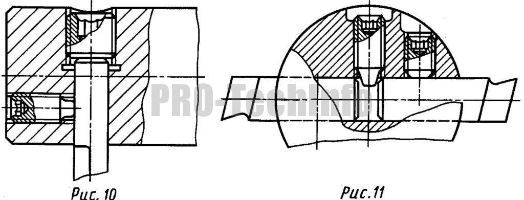 Применение установочных винтов в расточных головках станков