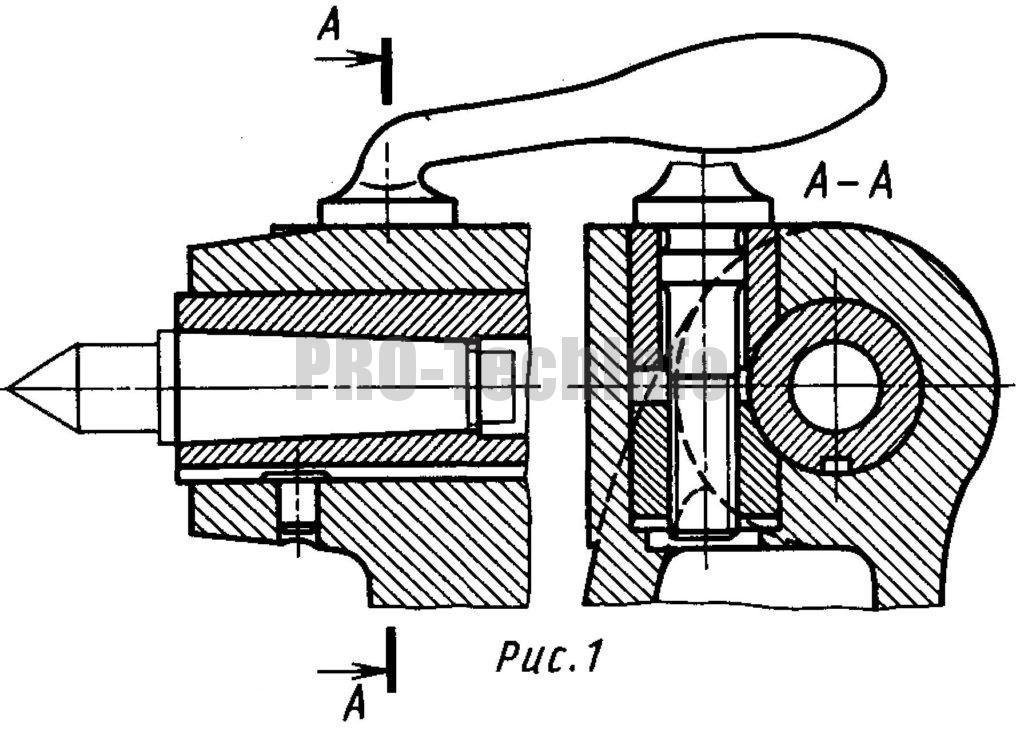 Зажим пиноли задней бабки токарно-винторезного станка