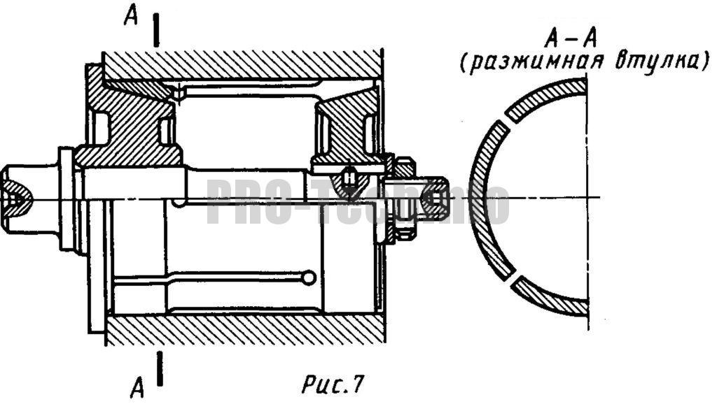 Разжимная оправка для закрепления заготовок по отверстию большого диаметра