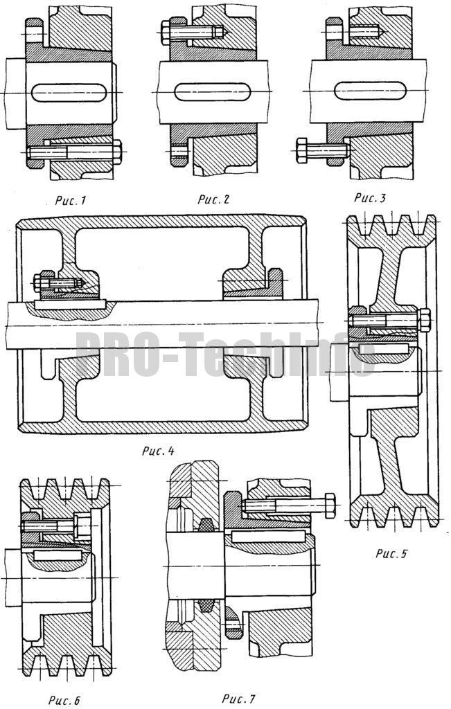 Монтаж втулки конических разрезных с фланцем