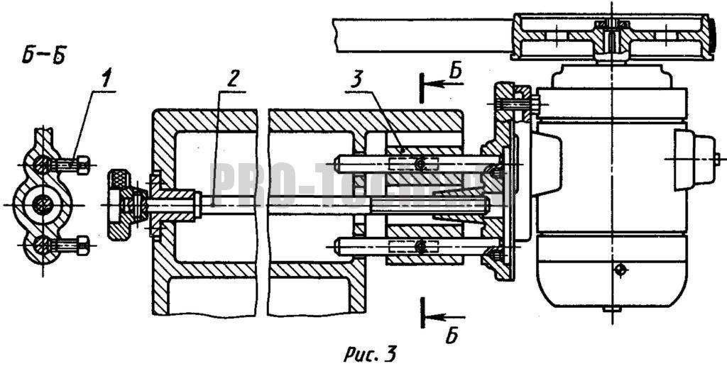 натяжение ремня в быстроходной передаче с вертикальными осями