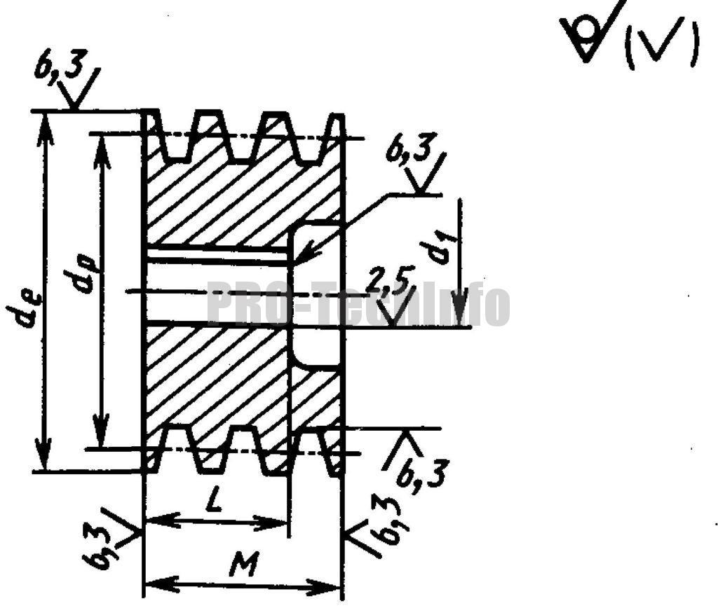 монолитный шкив с односторонней выточкой