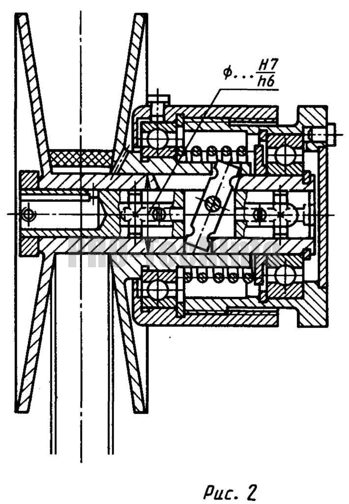 Раздвижные шкивы клиноременных передач чертеж