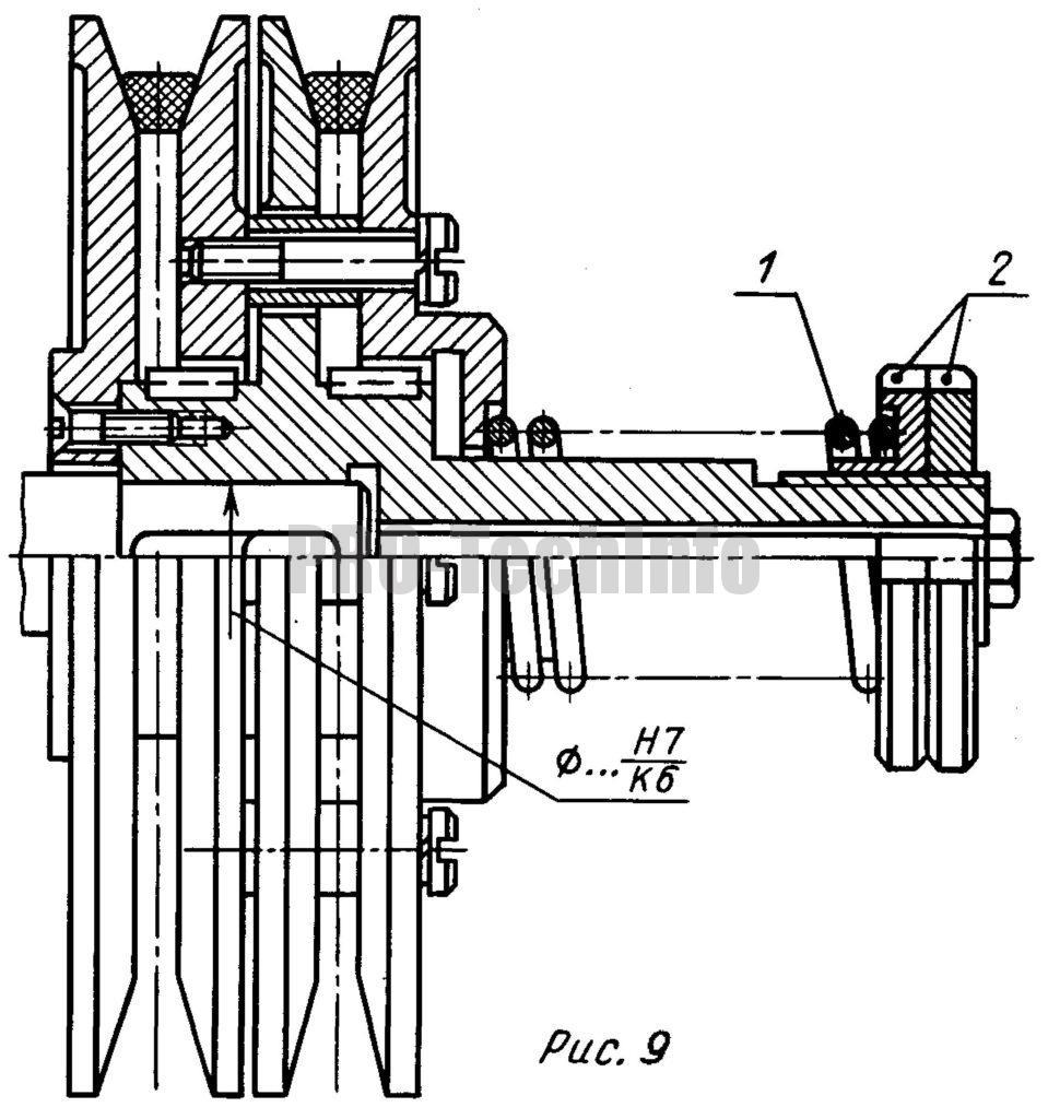 Раздвижные шкивы клиноременных передач
