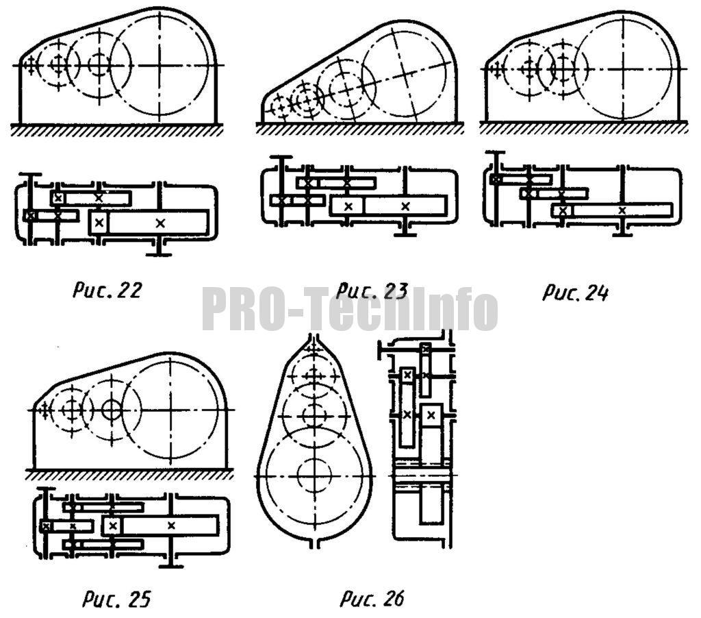 Цилиндрические трехступенчатые редукторы