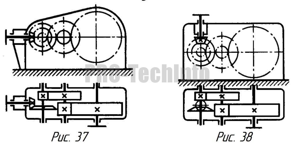 Коническо-цилиндрические трехступенчатые редукторы
