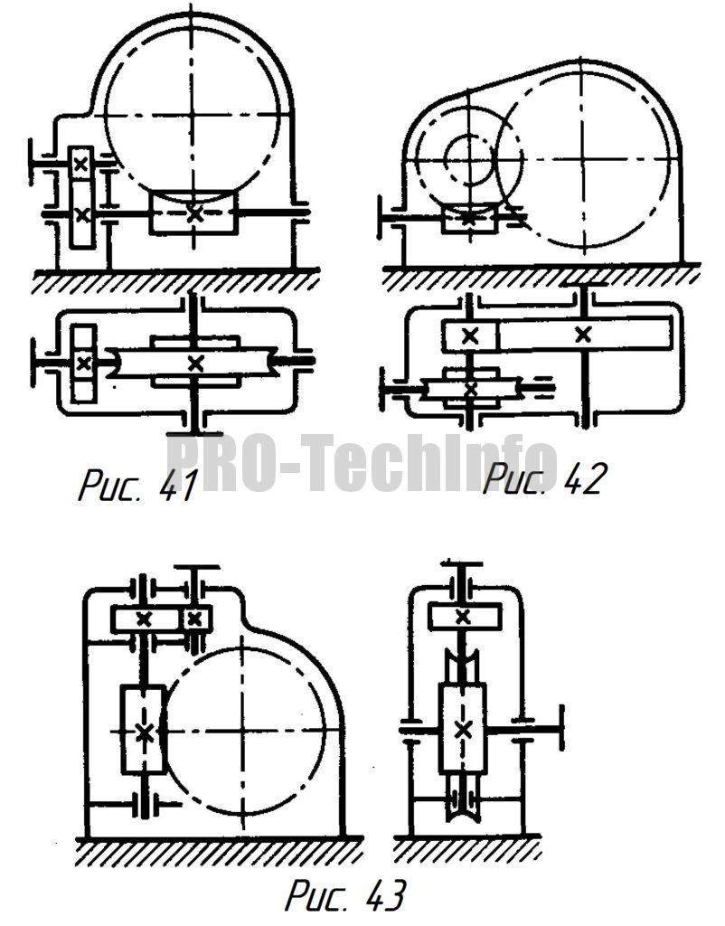 Цилиндрическо-червячные двухступенчатые редукторы