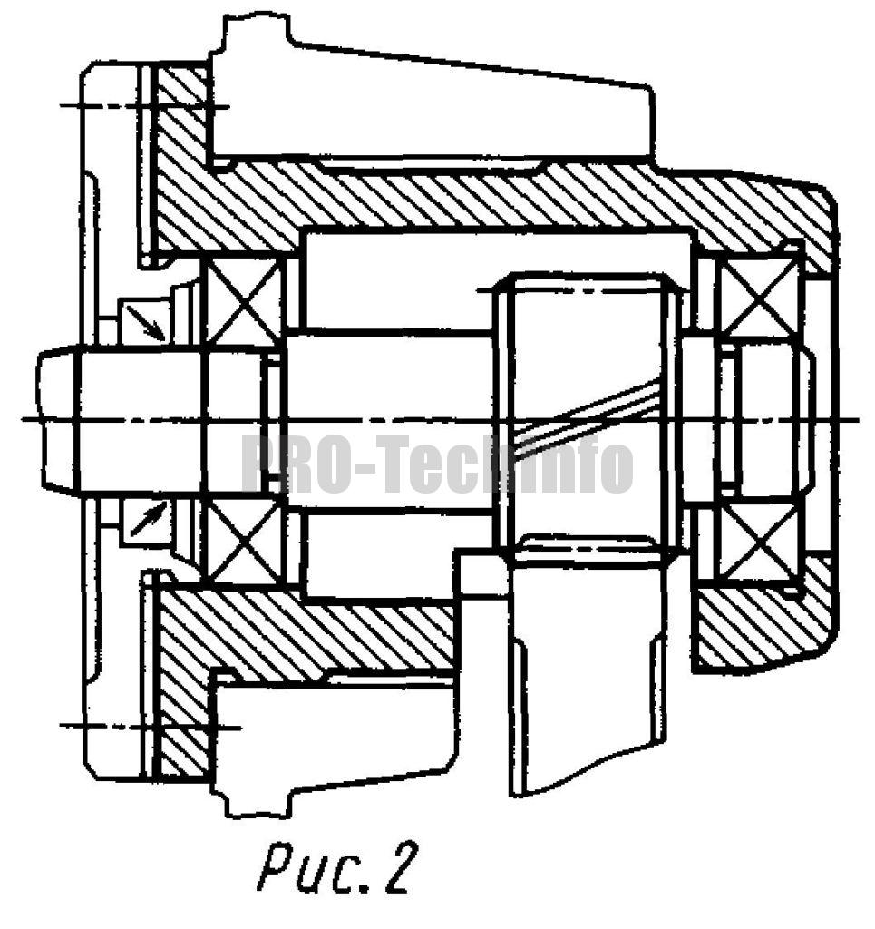 Варианты исполнений опор валов цилиндрического двухступенчатого соосного редуктора чертеж