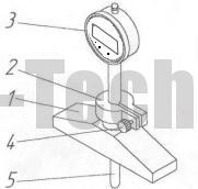Глубиномер микрометрический типа ГИ устройство