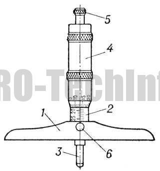 Глубиномер микрометрический типа ГМ устройство