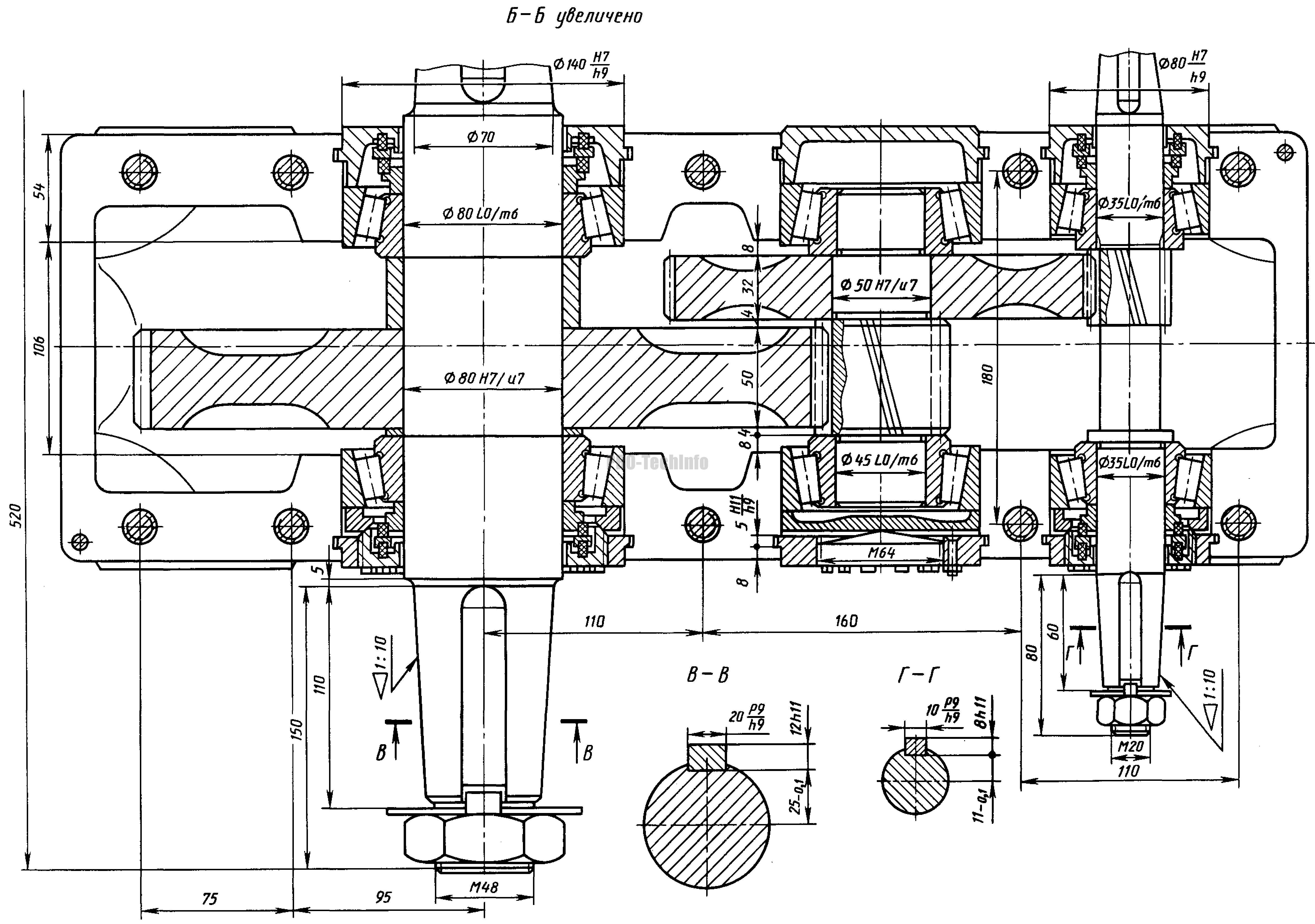 Редуктор Ц2-200. | PRO-TechInfo Редуктор Коническо цилиндрический
