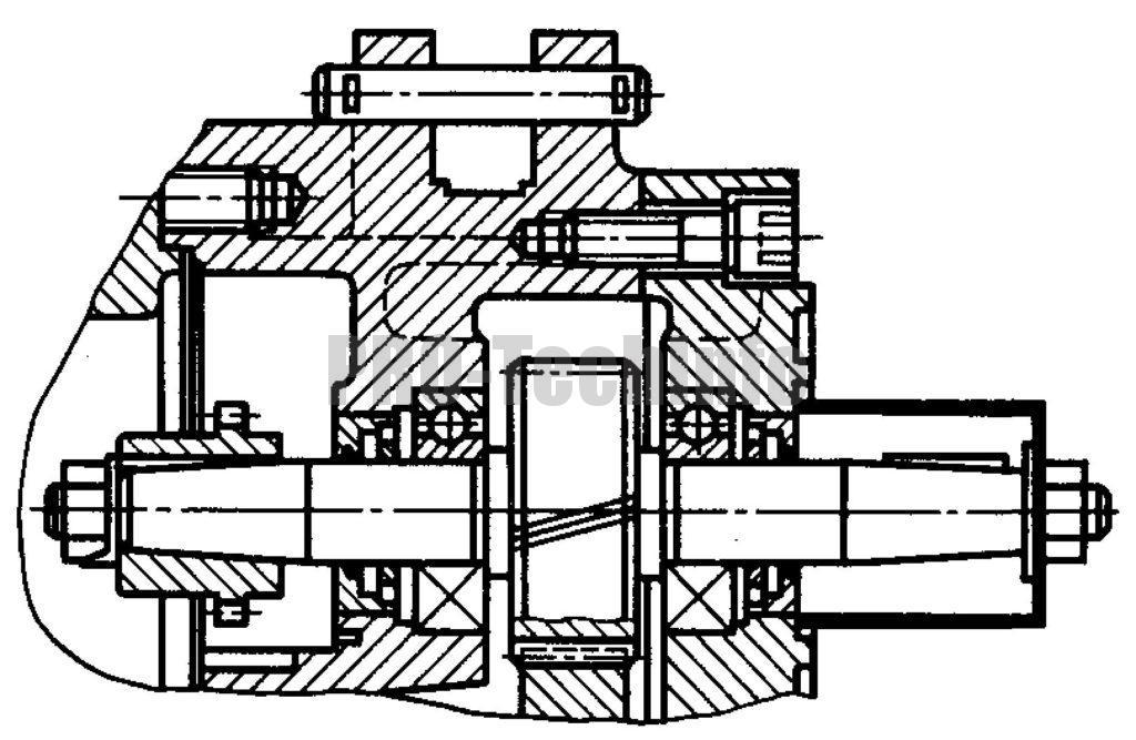 Редуктор Ц3КФ-100 вариант исполнения быстроходного вала