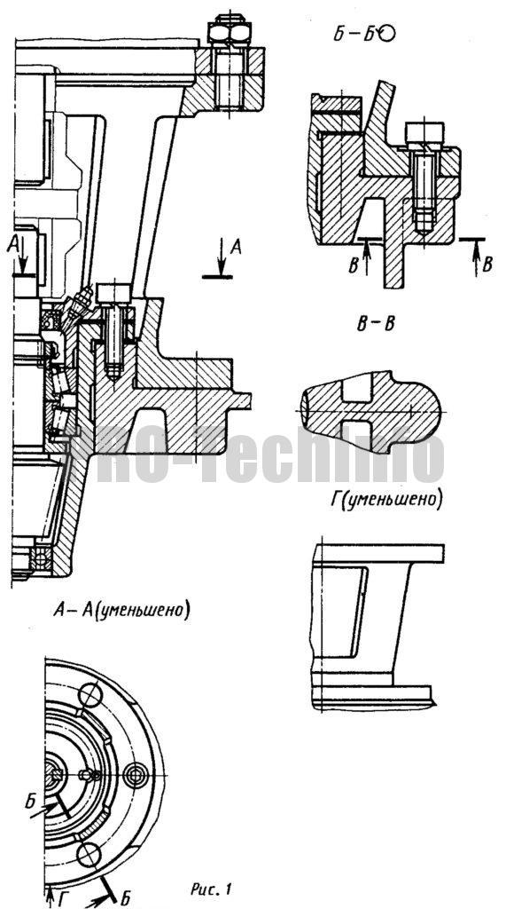 соединение фланцевого электродвигателя с валом шестерни осуществлено упругой муфтой