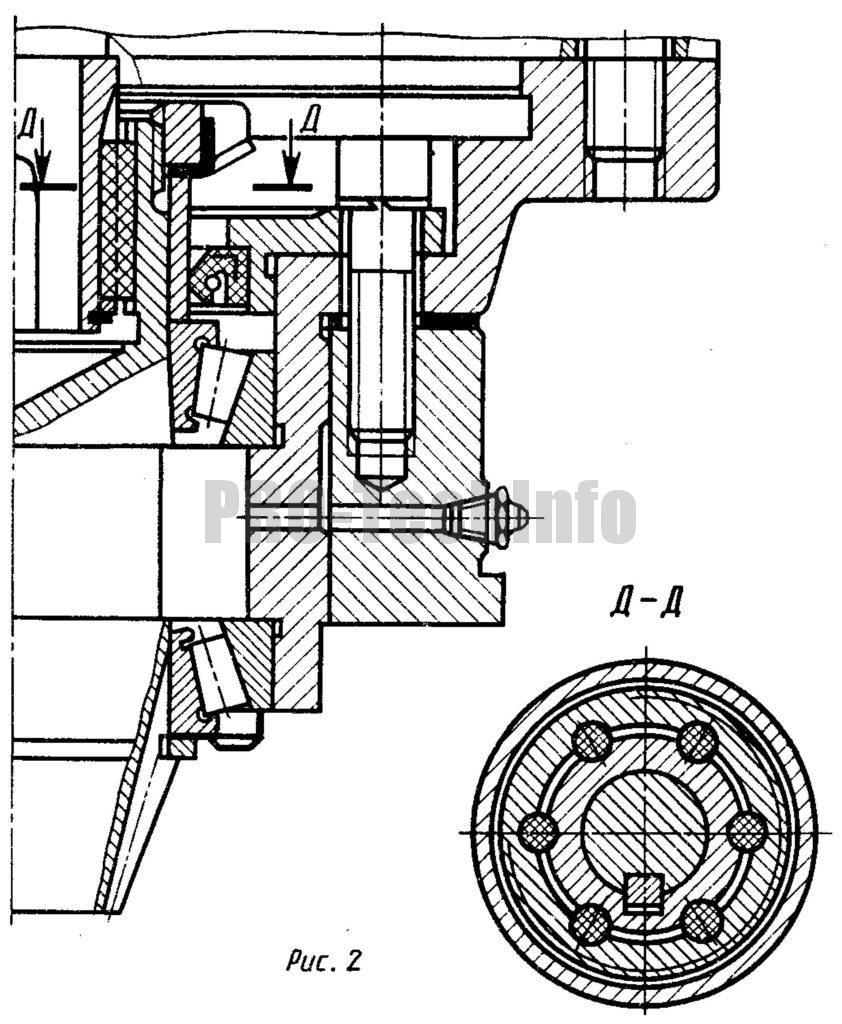 вал электродвигателя вставлен внутрь вала шестерни