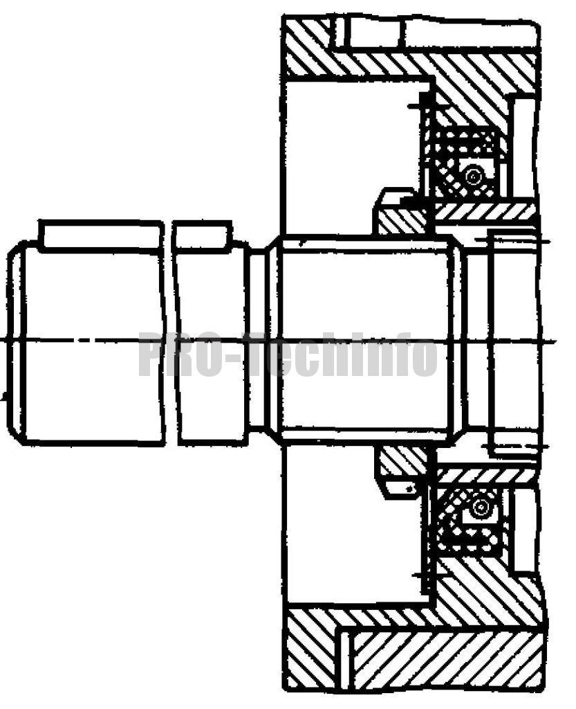 Вариант исполнения тихоходного вала РЧУ-80