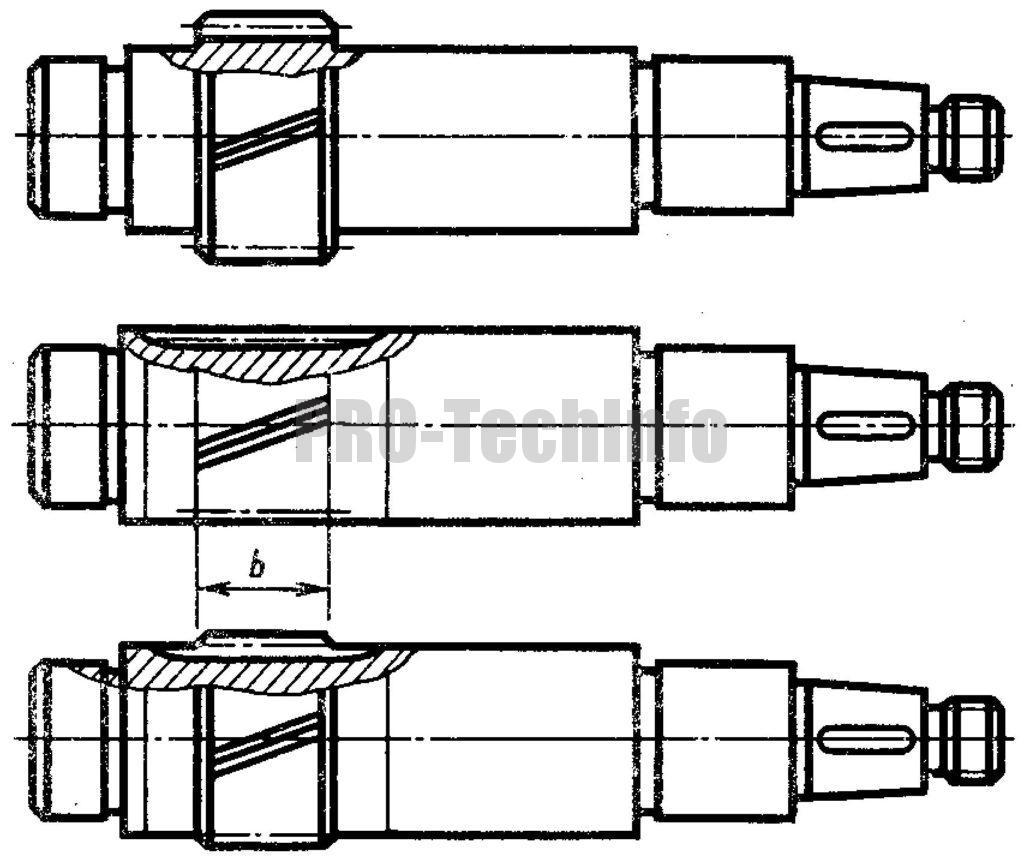 Валы-шестерни быстроходной ступени чертеж