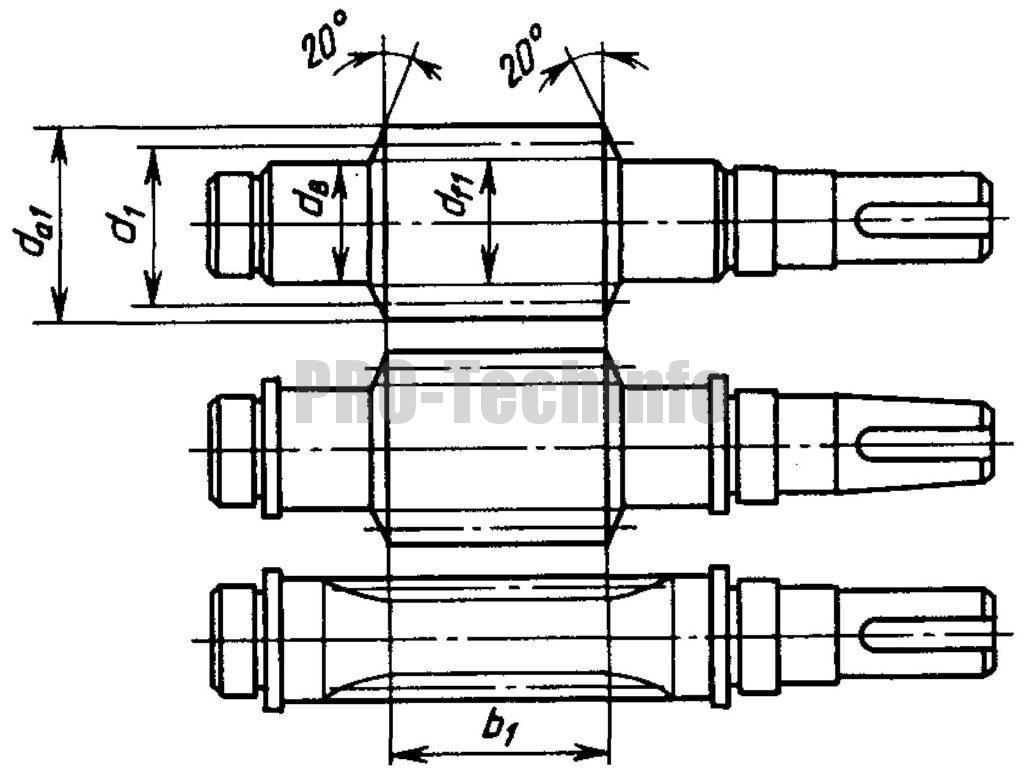 Червяки цилиндрические чертеж