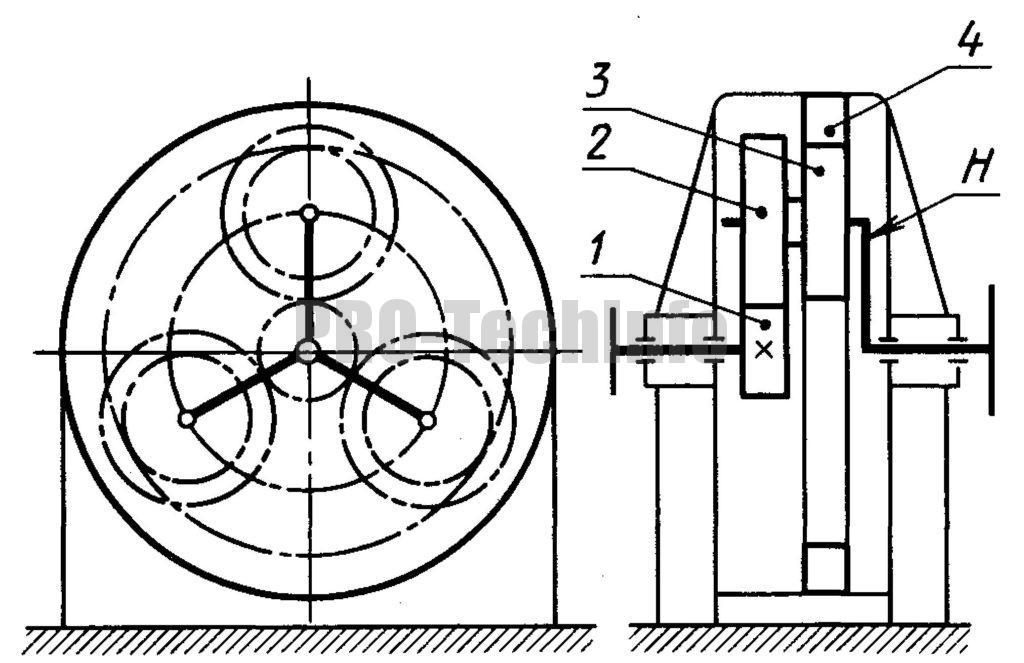 Двухступенчатый планетарный редуктор схема