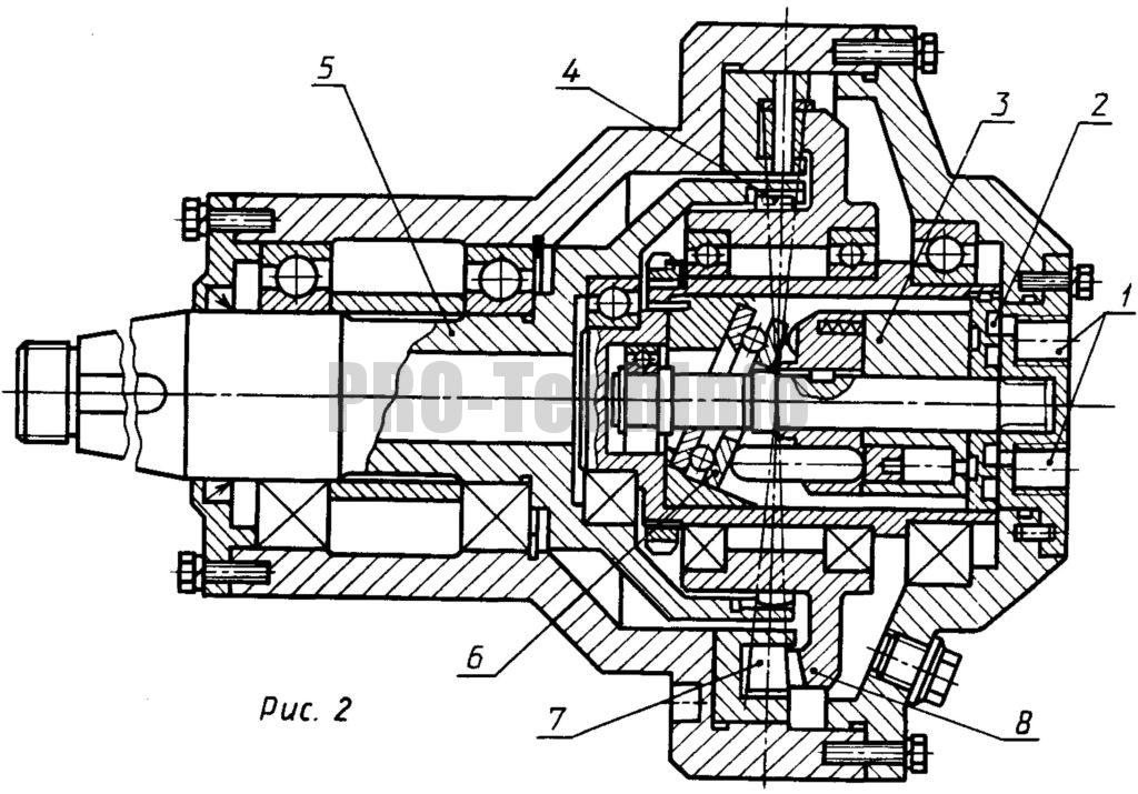 гидропередача, основа которой планетарный и прецессионный редуктор