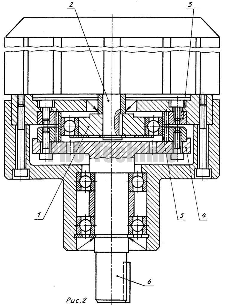Мотор-редуктор с коротким гибким колесом чертеж