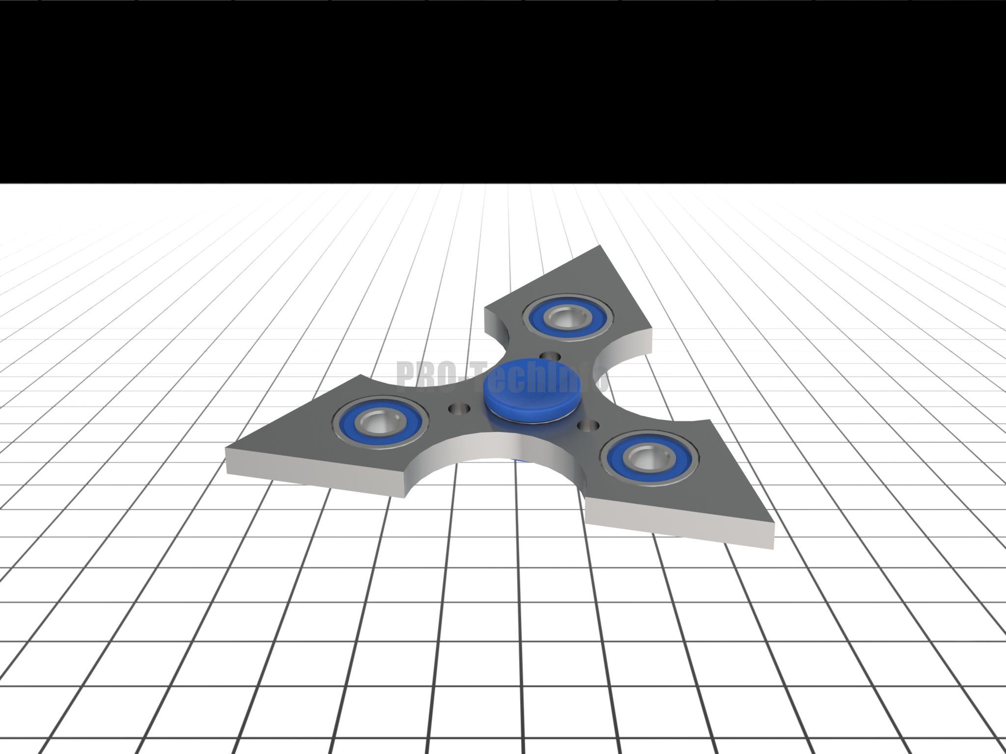 Спиннер модель для 3д принтера в SolidWorks