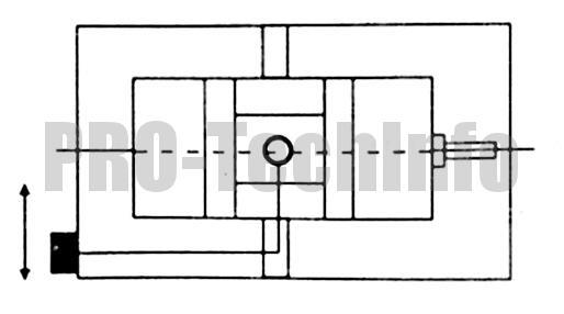 Параллельность зафиксированных губок поперечной канавки на корпусе тисков